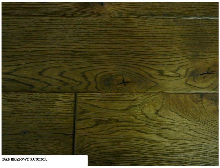 Deska dąb brązowy rustica
