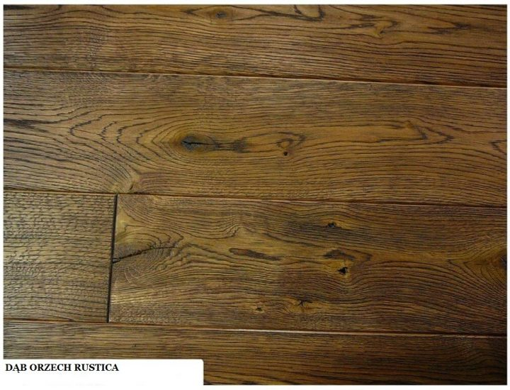 Deska dąb orzech rustica